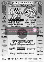 24 jan gme branded clearance sale malaysia 2008