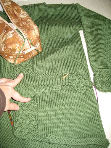 arwen seamed and second side started.