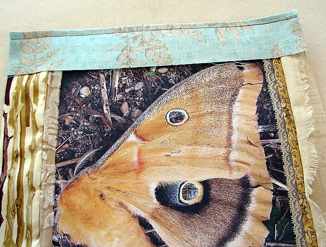 place upside down on fabric