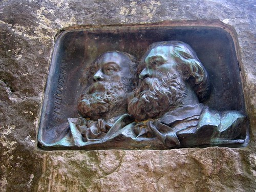 A permanent reminder in Barbzon of Jean-François Millet and Théodore Rousseau, the founders of the Barbizon School of Artists. Photo: fayehuang