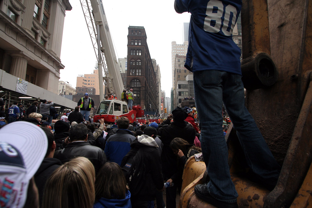 New York Giants parade of champtions ticker tape parade
