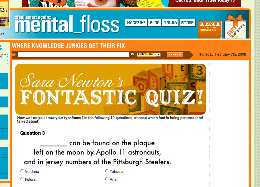 mental_floss typeface quiz quiz