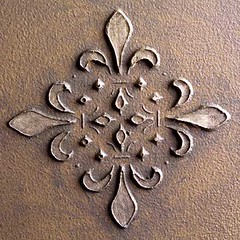 STM0001 Fleur French Tile Embossed Sculpture Stencils (stencilease) Tags: sculpture stencils art fleur wall painting tile de french stencil paint floor decorating embossed lis