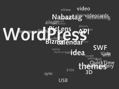WordPress Plugin para mostrar una nube de tags en Flash ceslava 0
