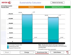 Xerox Sustainability Calculator