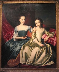 Mary and Elizabeth Royall (rosewithoutathorn84) Tags: girls portrait sisters john elizabeth mary colonial american copley 1700s singleton 1758 royall