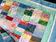 lap quilt close-up