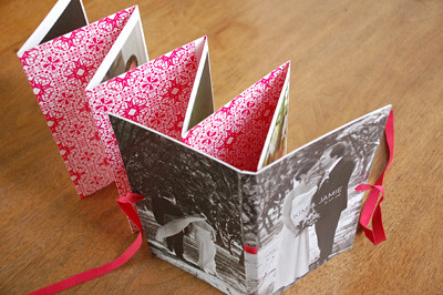 wedding photo accordion book