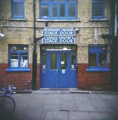 stage door (nigelrumsey) Tags: uk london 120 film holga lomo plastic squareformat plasticcamera holga120n nigelrumsey wwwnigelrumseycom