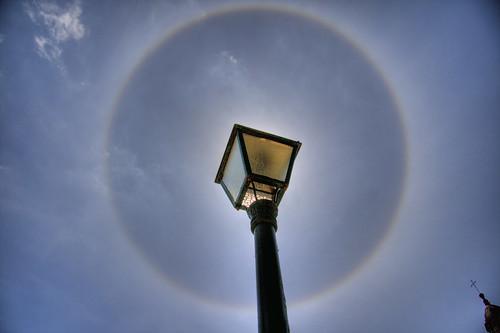 22 degree solar halo in Santiago de Compostela