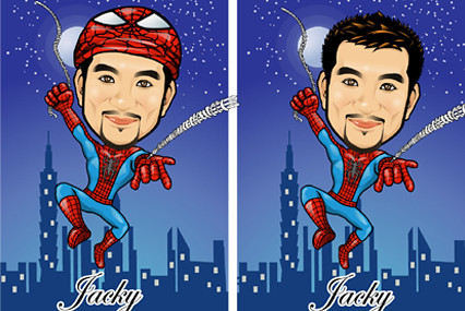 Q-Digital Caricatures - Spiderman-1