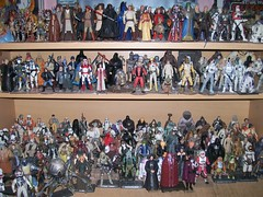 A Bit Of My Star Wars Action Figure Collection (THEREALGINGERPRINCE) Tags: wall toys star three action collection quarter kenner wars figures inches 34 hasbro