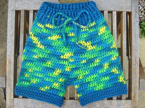 'Goblin' crocheted shorties