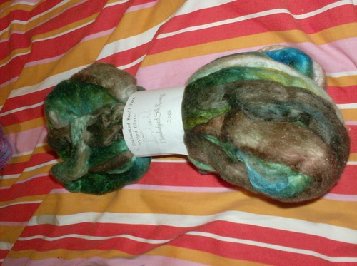 Enchanted Knoll Farms etsy Hand dyed silk roving spinning