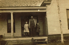Front Porch (~ Lone Wadi ~) Tags: house residence frontporch outdoors lostphoto retro 1910s unknown