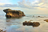 """""""The  true beauty is revealed only if there is a light from within."""" (ツMaaar) Tags: sunset bali seascape reflection beach stone landscape wave echobeach solbeach canggu img4235"""