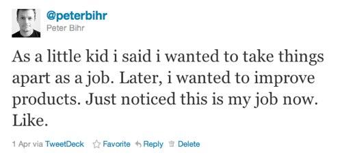 twitter - dream job