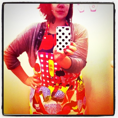 Even wearing a marimekko apron! #denmarkhousedinner