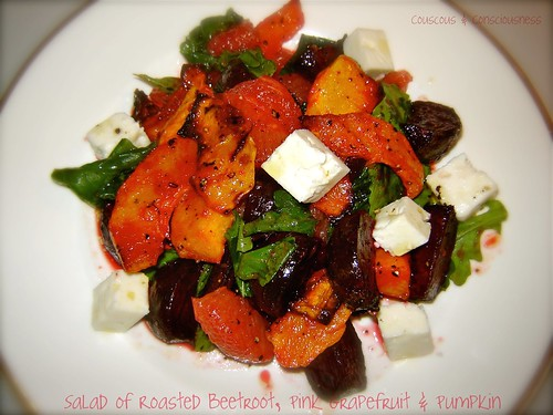 Roasted Beetroot, Pink Grapefruit & Pumpkin Salad 3