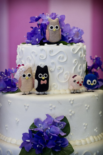 Needle felted cake toppers