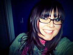 purple wall (jesh1223) Tags: haircut selfportrait green scarf glasses lomography purple nosering jesh1223 noseringthefeminine