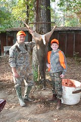 Sam's first deer (journeyguy) Tags: blog sam deer hunter arkansas deerhunter