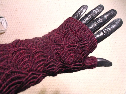 Pomatomus Opera-Length Fingerless Gloves