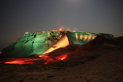 "Masada sound&light  show  "" DEAD SEA ISRAEL""        (A   M) Tags: show travel light sea west luz night dead israel mar nightly desert y ben unesco v"