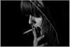 (sele3en) Tags: light portrait bw smoke 07