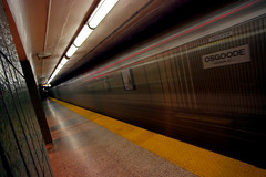 the cool stop (scienceduck) Tags: november 15fav toronto ontario canada motion blur public train subway ttc wideangle slowshutter tdot 2007 osgoode redo osgoodestation scienceduck
