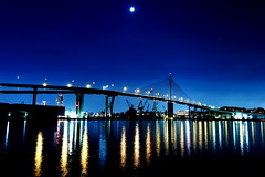 Moon night (Fukuda.) Tags: blue sea sky water japan canon eos fukuoka inspire canoneos eos1d the fpc amazingshot worldthroughmyeyes canoneos1dmarkiii passionphotography mywinners anawesomeshot flickrenvy ithinkthisisart diamondclassphotographer flickrdiamond colourartaward theperfectphotographers monthnight