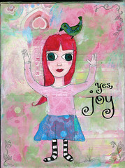 Joy - mixed media painting