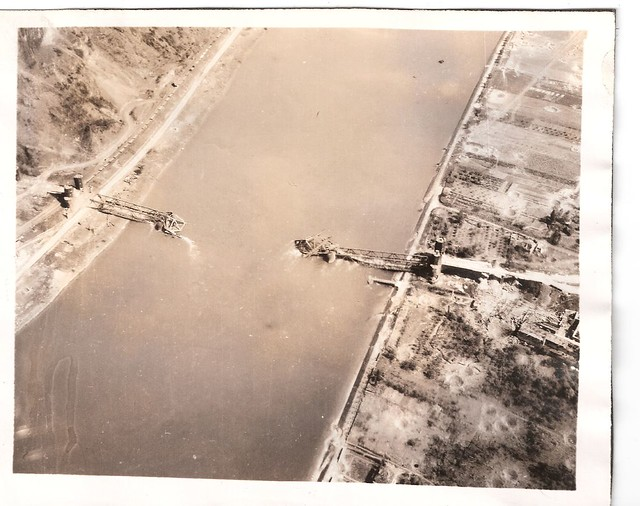 """WWII B-24 VE """"Trolley Missions"""", The Bridge at Remagen (Ludendorff-Brücke) , May 10th 1945"""