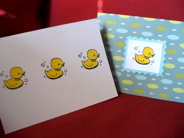 Set of 2 Lucky Ducks cards