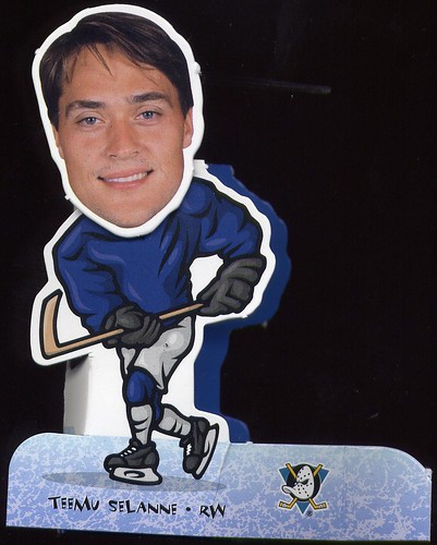 Teemu Selanne, Anaheim Mighty Ducks, 98-99 Collector's Choice Bobbing Head, hockey card
