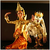 Hanuman and siren-Paris (kinginexile) Tags: girls portrait paris france girl children asia cambodia festivals apsara apsaras itsong–mirrors–southeastasia cabaretdesoiseaux
