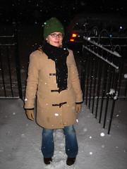 Apryl in big snowfall