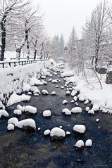 Ever seen the snow falling? (Xavier Donat) Tags: winter italy snow river landscape nopeople neige limone d300 abigfave