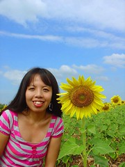 Because of LoVe..loVe..LOvE.. (Thai Jasmine (Smile..smile...Smile..)) Tags: love thailand sunflowerfield iloveyoursmile abigfave saraburiprovince