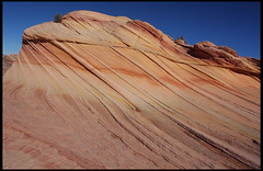"""The Wave"" (rickz) Tags: travel color beautiful beauty landscape utah ut sandstone scenery colorful hiking roadtrip hike 2007 kaleidoscopic thewave rockformation pariacanyon coyotebuttes grandcircle vermilioncliffs vermilioncliffsnationalmonument swirlingstrata gcrt2007d9"