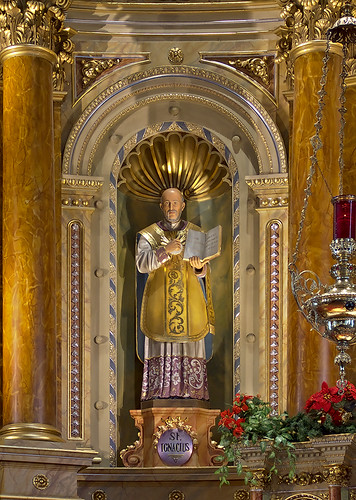 Saint Joseph Shrine, in Saint Louis, Missouri, USA - statue of Saint Ignatius Loyola
