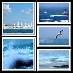 Rves bleus ! - Blue dreams ! (capitphil) Tags: ocean blue sea mer brittany waves mosaic bretagne bleu vagues mosaque photoscape