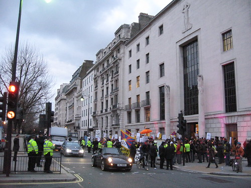 Protest outside Chinese Embassy London