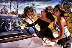 girls, leave me alone (Kris Kros) Tags: california ca school usa smile car project john fun photography freedom high calendar dynamic joy jfk highschool hills teen wash f granada teenager range kennedy hdr kkg exuberance kkgallery
