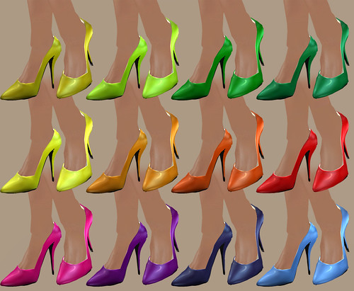 Juicy Classic Pumps - Rainbow