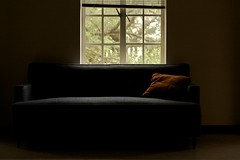 brown pillow (xgray) Tags: blue light shadow brown window contrast digital upload 35mm canon austin dark eos prime university texas pillow couch universityoftexas sofa iphoto subtle ef35mmf2 calhounhall 40d canoneos40d postedtophotographersonlj epiceditsselection xgv08