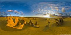 Pinnacles full spherical panorama (neilcreek) Tags: panorama desert fisheye pinnacles