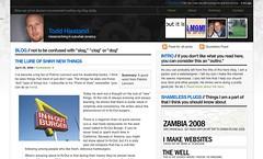 My Old blog design