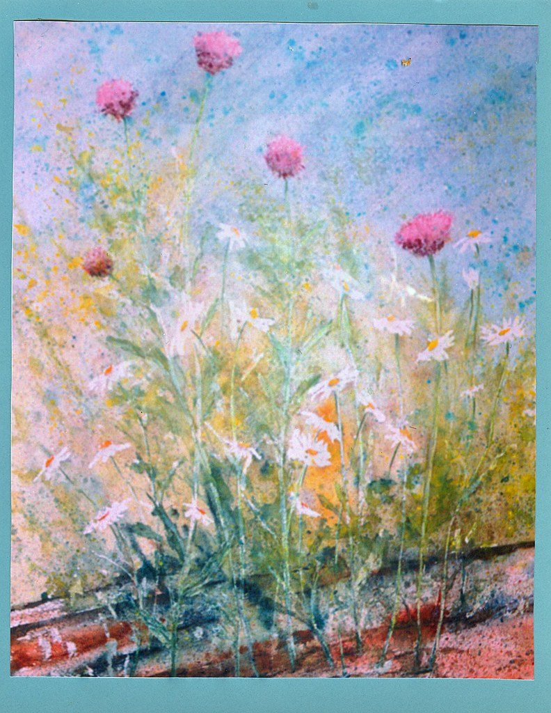 SUMMER FLOWERS (WATERCOLOR) BY FRAN HENLEY (FRANCES E. SCANDLYN)