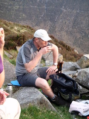 Break for tea on the far slope of Slievnaglough
